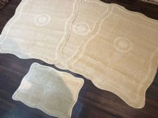 ROMANY GYPSY WASHABLES, MATS  SETS OF 4 MATS/RUGS X LARGE 100CMX140CM LT BEIGE
